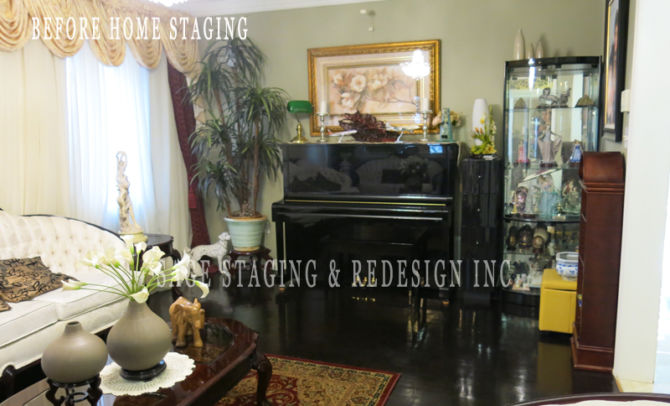 BEFORE  HOME STAGING