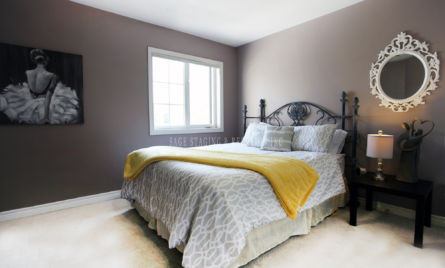 BEDROOM  HOME STAGING STAGED BY SAGE STAGING & REDESIGN INC TORONTO GTA