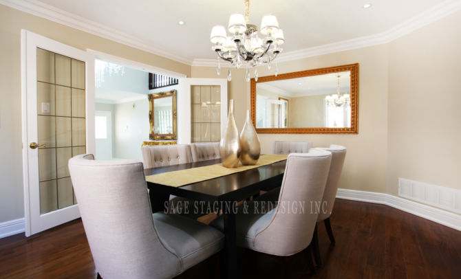 DINING ROOM HOME STAGING TORONTO GTA