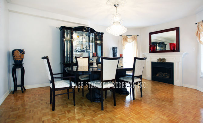 DINING ROOM STAGED BY SAGE STAGING & REDESIGN INC