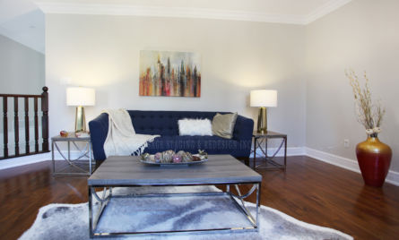 FAMILY ROOM HOME STAGING & REDESIGN TORONTO GTA