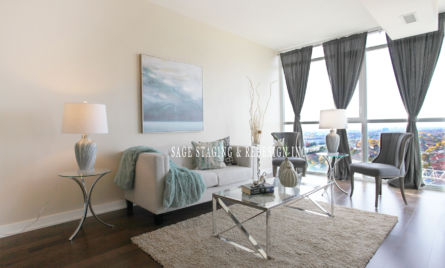 HOME STAGING -CONDO-LIVING ROOM-MISSISSAUGA-GTA