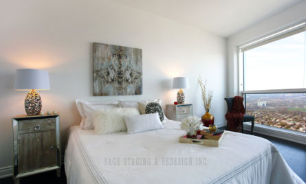 HOME STAGING, CONDO, TORONTO, DESIGN, MASTER BEDROOM