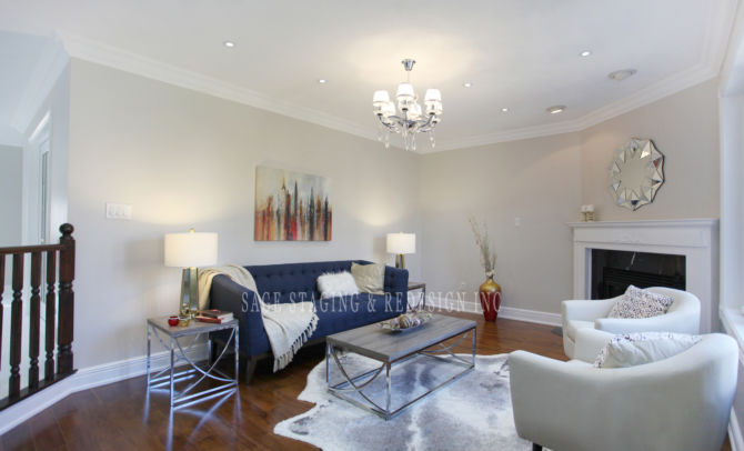 HOME STAGING FAMILY ROOM TORONTO GTA