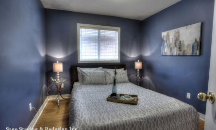 Home Staging -Bedroom by Sage Staging & Redesign Inc.