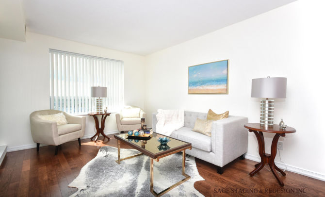 after home staging family-living room -condo