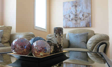 Family room home staging Sage Staging & Redesign Inc