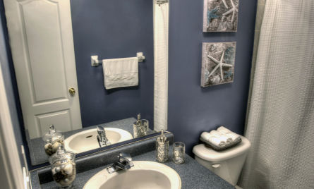 bath room staged by Sage Staging & Redesign Inc.
