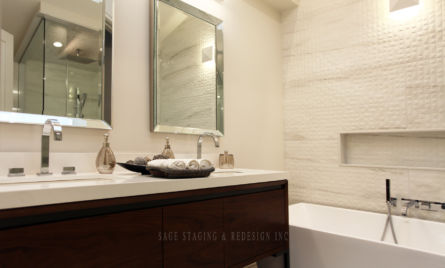 WASHROOM, HOME STAGING, TORONTO, GTA, SAGE STAGING & REDESIGN INC., ENSUIT
