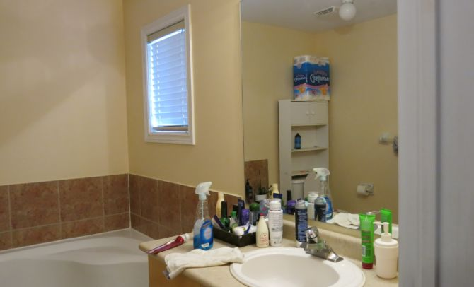 Before decluttering and home staging