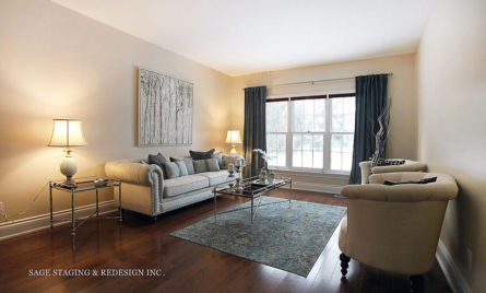 DESIGN BY SAGE STAGING & REDESIGN -TORONTO PROFESSIONAL-LIVING ROOM