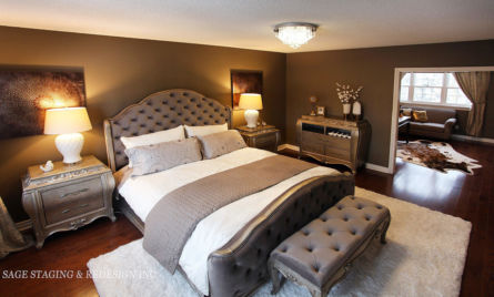 MASTER BEDROOM DESIGN BY SAGE STAGING & REDESIGN -TORONTO PROFESSIONAL